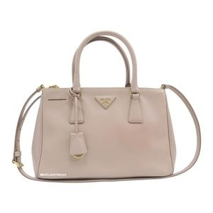 Prada Galleria Double Lux Small Saffiano Beige Bag